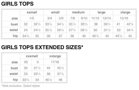 converter tamanhos de roupas nos Estados Unidos
