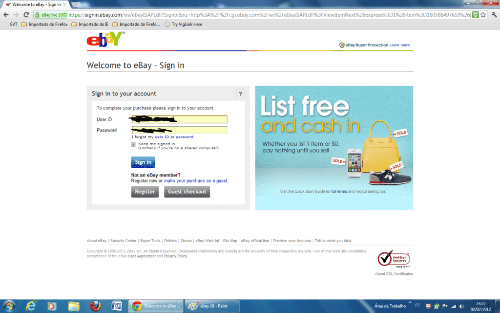 aprenda a comprar no Ebay