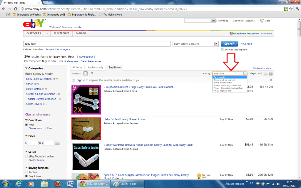 comprar no Ebay