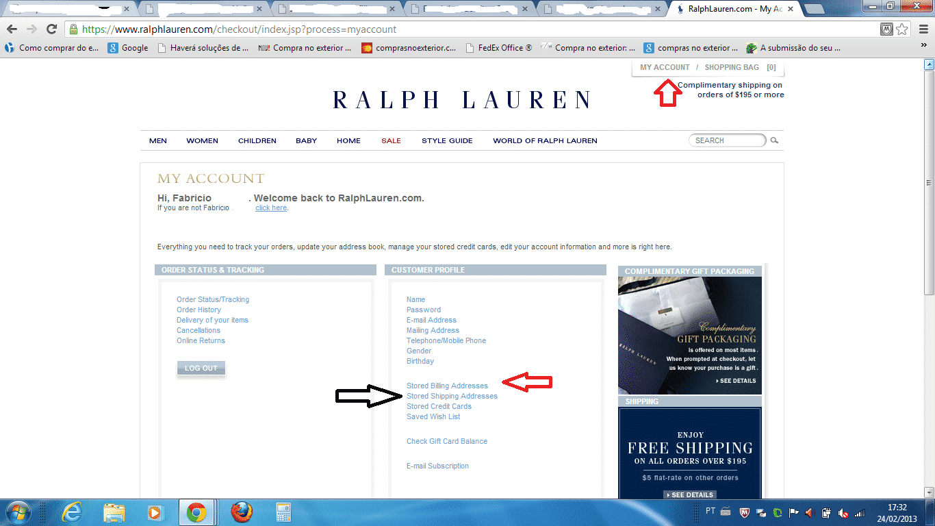 importar Ralph Lauren