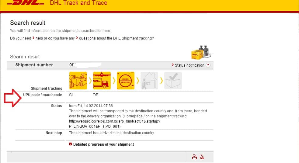 rastreando dhl global mail