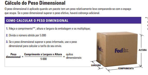 peso dimensional Peso real x Peso dimensional entenda