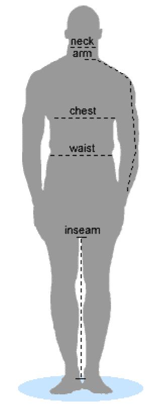 medida masculina