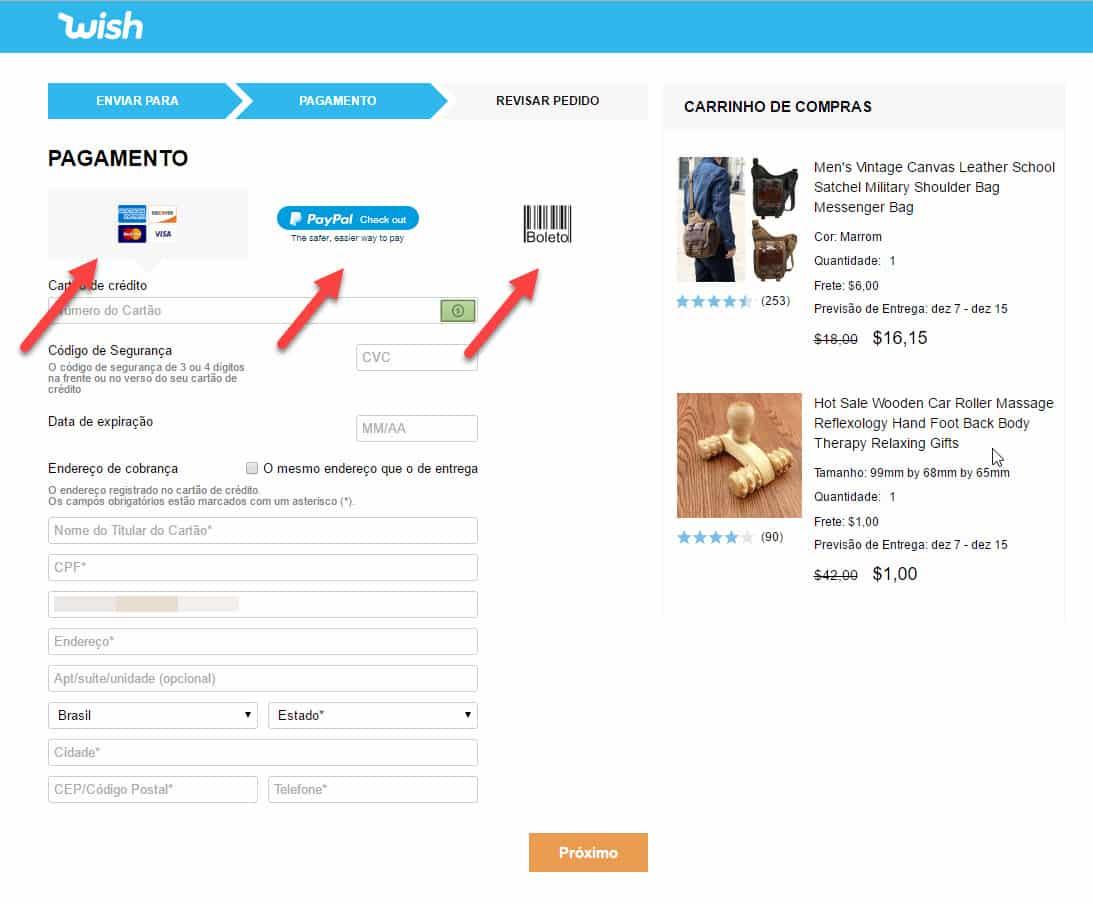 Wish nova op o de compras no exterior t o boa quanto ebay - Central de compras web ...